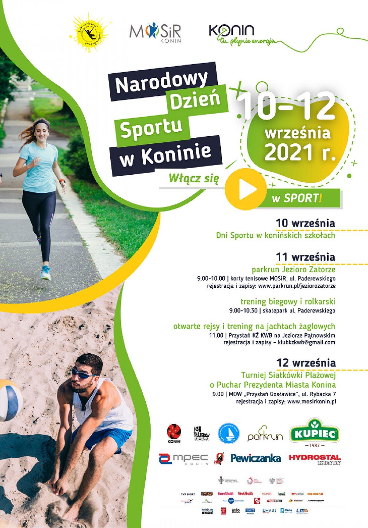 Konin jest miastem partnerskim Narodowego Dnia Sportu