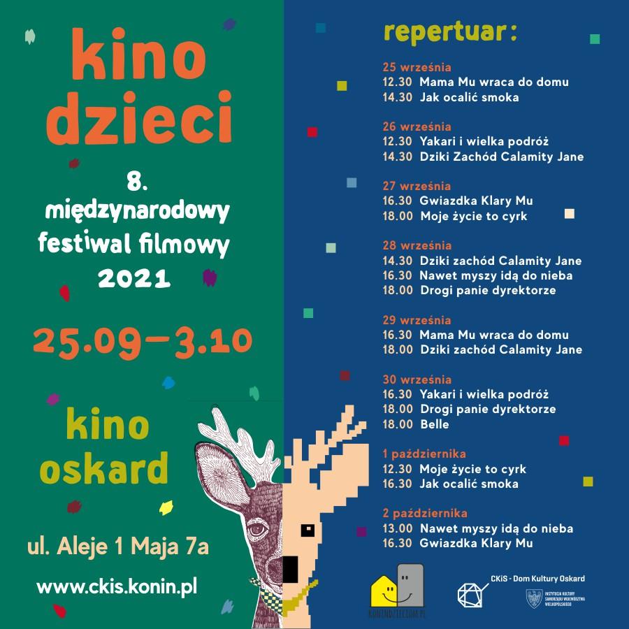 8. edycja Międzynarodowego Festiwalu Filmowego Kino Dzieci jesienią do zobaczenia w kinie Oskard, od 25 września do 2 października.