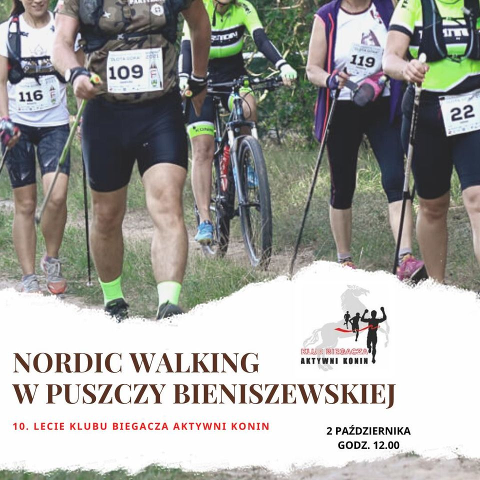 Dzisiaj o godz. 12.00. Nordic walking w Puszczy Bieniszewskiej