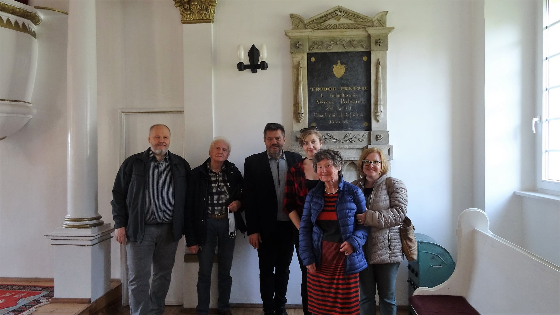 Potomkowie Teodora Pretwica odwiedzili Parafię Ewangelicko – Reformowaną w Żychlinie